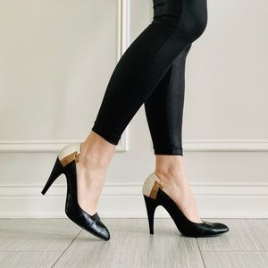 {Liliana} Black Pointed Toe Heels